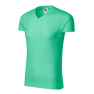 Tricou barbati Slim Fit V-Neck, verde menta