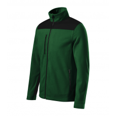 Jacheta fleece unisex Effect, verde sticla