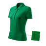 Tricou polo dama Cotton, verde mediu