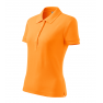 Tricou polo dama Cotton, mandarina