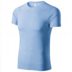 Tricou unisex Paint, albastru deschis