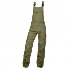 Pantaloni de lucru, cu pieptar barbati, Ardon Urban+, khaki