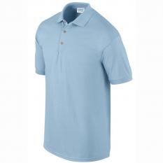 Tricou polo barbati, bumbac 100%, Gildan GI3800, light blue