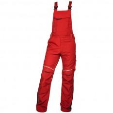 Pantaloni de lucru, cu pieptar barbati, Ardon Urban+, rosu