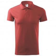 Tricou polo barbati Single Jersey, rosu bordo