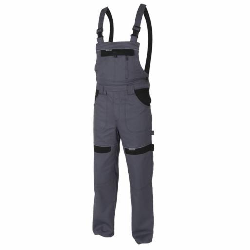 Pantaloni cu pieptar grey H8404 :: Cool Trend