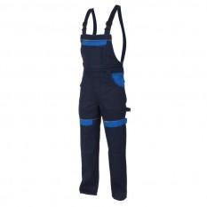 Pantaloni cu pieptar bleumarin H8420 :: Cool Trend