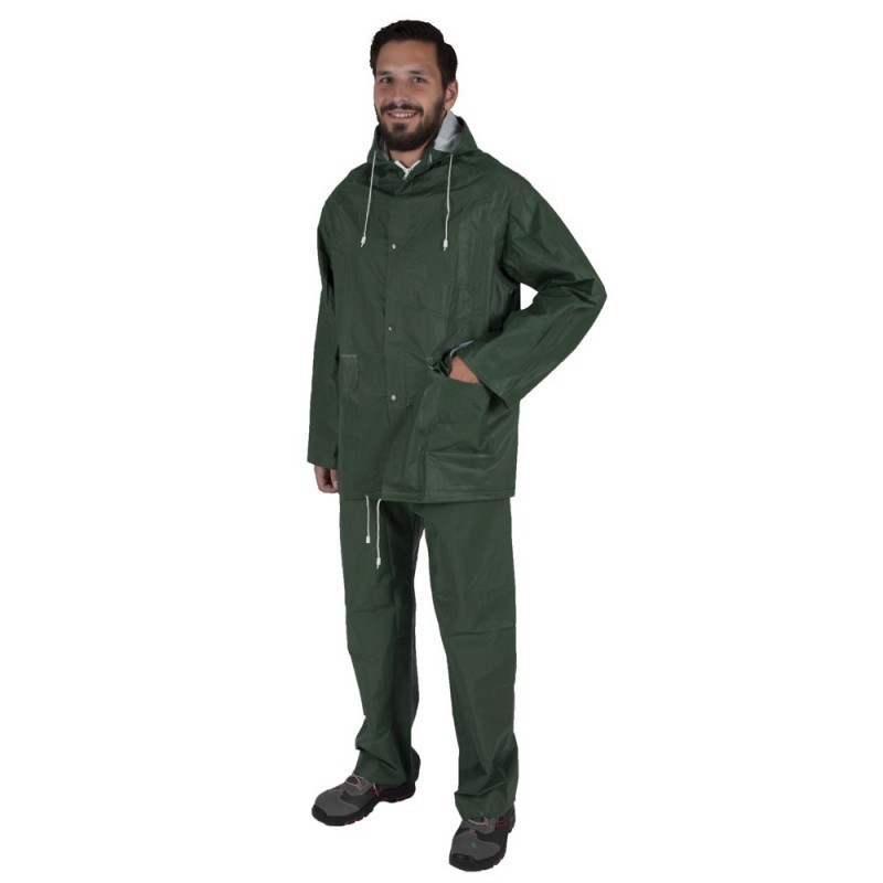 Costum de ploaie din doua piese Hugo verde :: Nakita