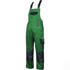 Pantaloni de lucru cu pieptar Pre H9502  Verde :: Nakita