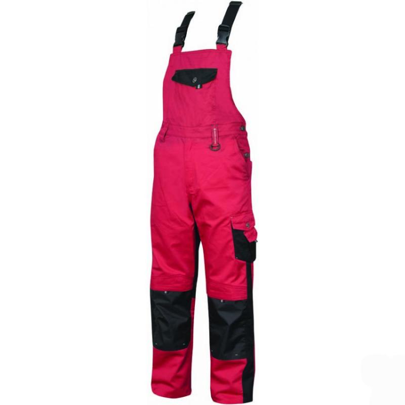 Pantaloni de lucru cu pieptar Pre H9505 Rosu :: Nakita