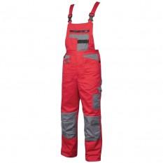 Pantaloni de lucru cu pieptar 2Strong Rosu-Gri ::