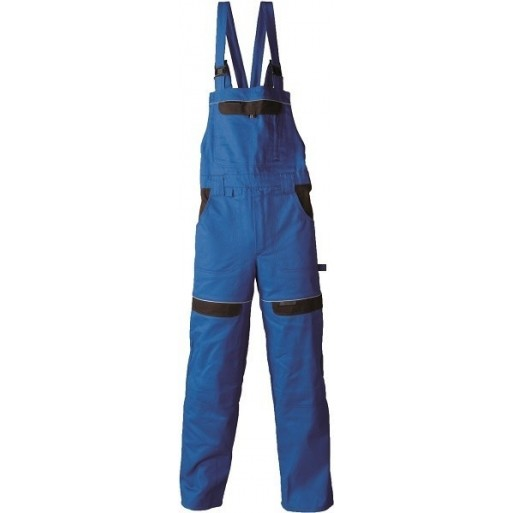 Pantaloni  de lucru cu pieptar Cool Trend Albastru-Negru H8102 :: Cool Trend