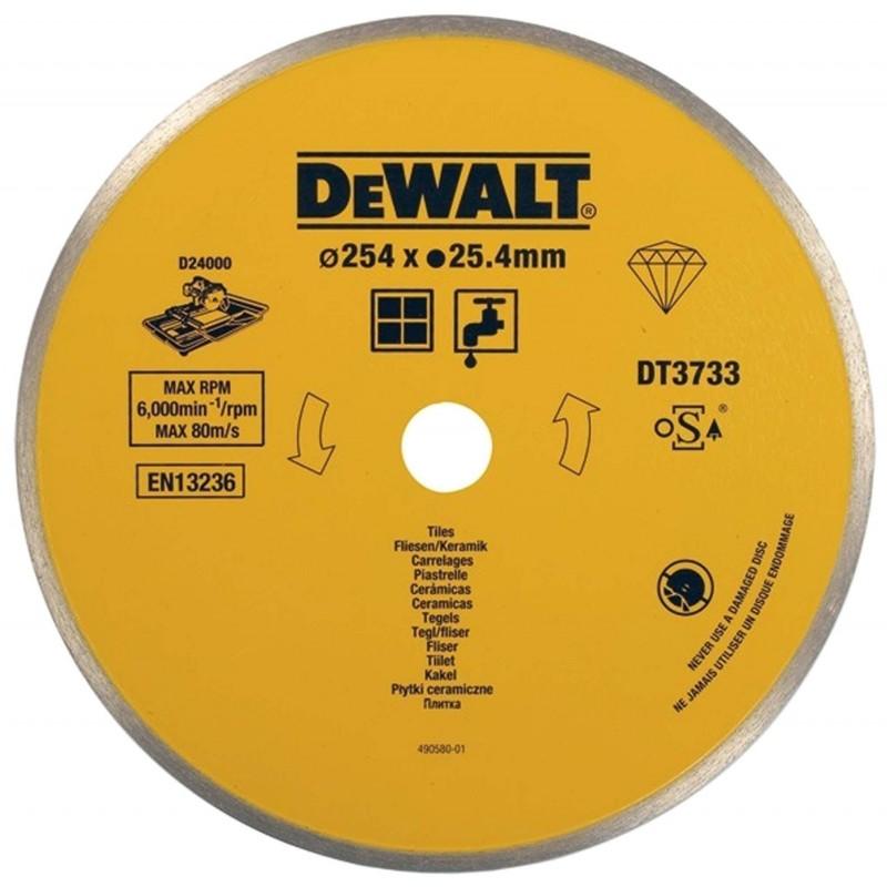 Disc diamantat continuu 250X25.4 mm DT3733 :: DeWalt