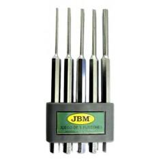 Set 5 dornuri pentru metal 52013 :: JBM