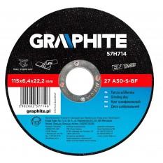 Disc abraziv pentru polizarea metalului 57H715TOP :: Graphite