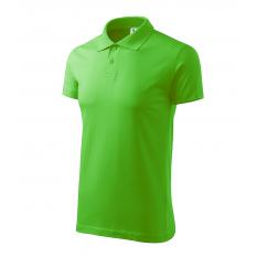 Tricou polo barbati Single Jersey, verde mar